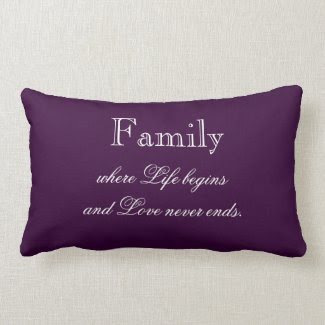Family Quote Throw Pillow