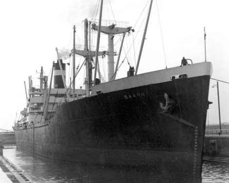 BAARN - Koninklijke Nederlandsche Stoomboot Maatschappij IN Jmuiden  1960