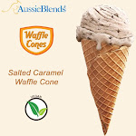 "Salted caramel Vegan waffle cone 2.6"" x 5.5"" (240 units / Box) by Aussieblends"