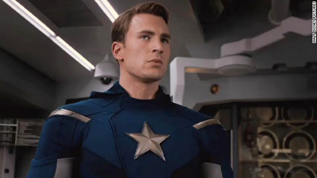 "Chris Evans first donned red, white and blue for 2011's ""Captain America: The First Avenger."" He continues his fight against evil in ""The Avengers."""