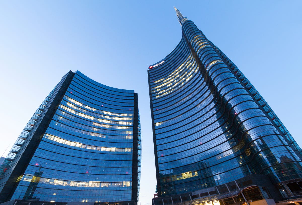 #8 UNICREDIT TOWER — The headquarters of UniCredit Bank, the UniCredit Tower is Italy's new tallest building. It can be seen from six miles away, and has LED lights that allow it to change color.