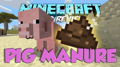 Pig Manure Mod for Minecraft (1.9.2/1.9/1.8)