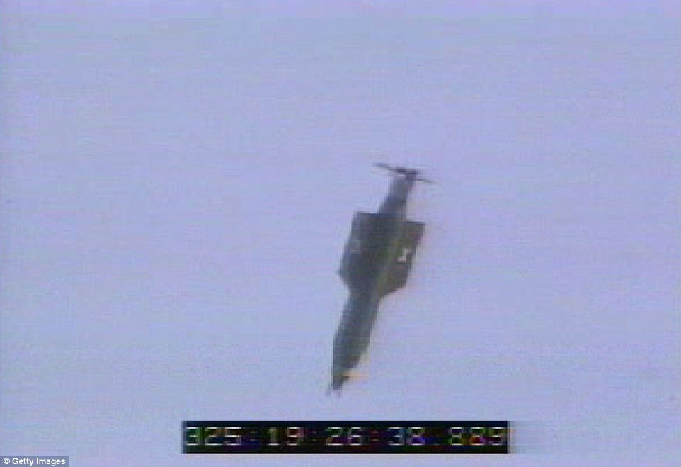 The MOAB was pushed out the back door of a giant cargo plane on Thursday, flying to its target with GPS guidance. A MOAB has only been exploded once before - in a 2003 test