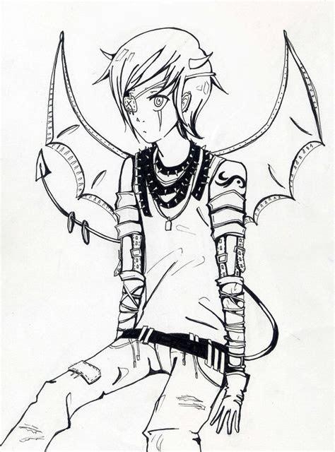 devil boy drawing drawing skill