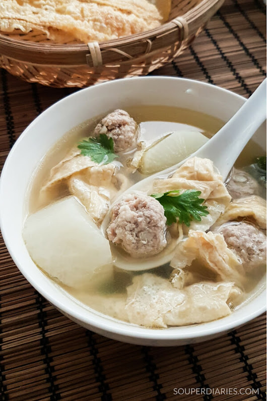 Bean Curd and Meatballs Soup - Souper Diaries