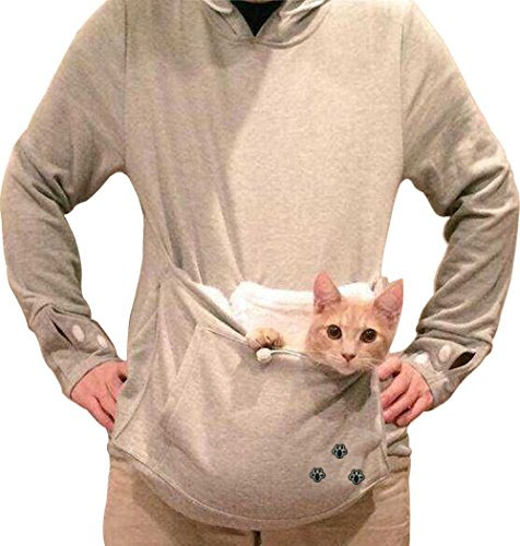 Bode®women Large Pocket Pet Cat Hoodie Fleece (M)