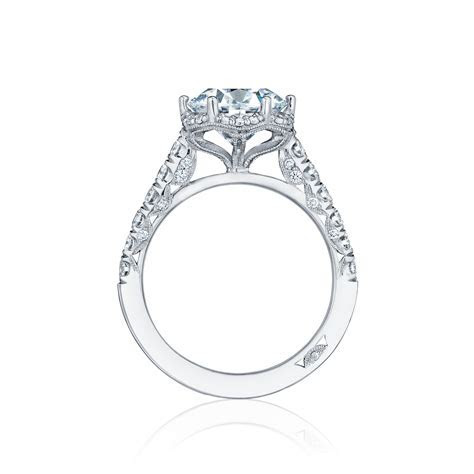 Tacori Engagement Rings Petite Crescent Diamond Halo 0.61ctw