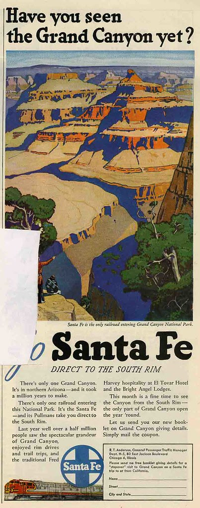 Santa Fe Railroad_Fred Harvey_Grand Canyon_tatteredandlost
