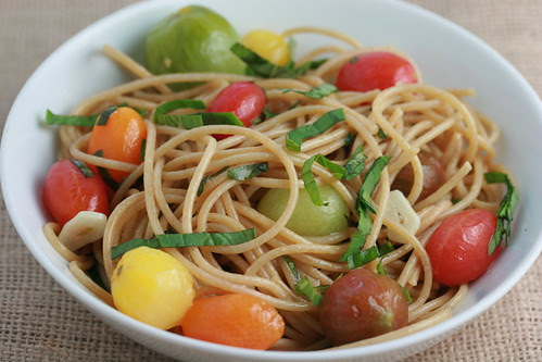 Heirloom Tomatoes and Pasta