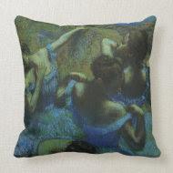 Blue Dancers by Edgar Degas throwpillow