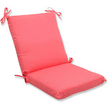 Pillow Perfect Outdoor Fresco Melon Squared Corners Chair Cushion