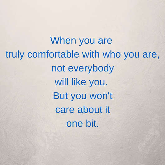 Monday Mantra - Be Comfortable With Yourself - The Frugal Fashionista