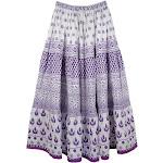 TLB Royal Purple Cotton Long Summer Skirt