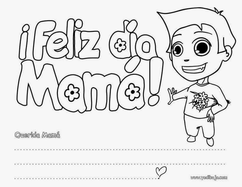 32 Dibujos Para El Dia De La Madre Para Imprimir Y Colorear