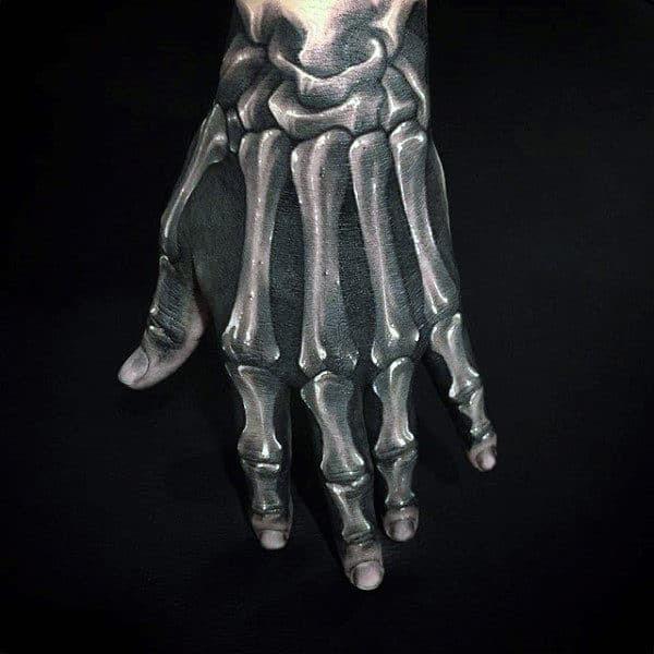 75 Skeleton Hand Tattoo Designs For Men Manly Ink Ideas