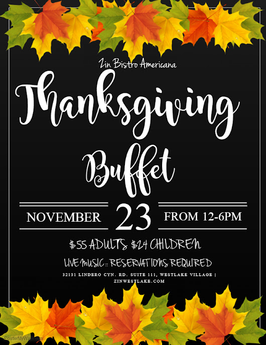 Celebrate Thanksgiving on the Lake at Zin Bistro