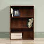 Sauder Beginnings 3 Shelf Bookcase, Brook Cherry