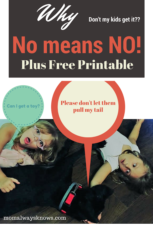 Why don't my kids get it? No, really means NO with free printable! Don't ask me again!