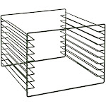 """Focus FTSM8GN Tray Slide Module, 8 Tray Capacity, 1 1/4"""" Clearance, Green Epoxy Wire"""
