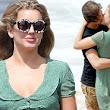 Look who found love Down Under: Former Made In Chelsea beauty Caggie Dunlop locks lips with her new man