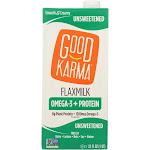 Good Karma Flax Milk - Protein - Vanilla - Case Of 6 - 32 Fl Oz
