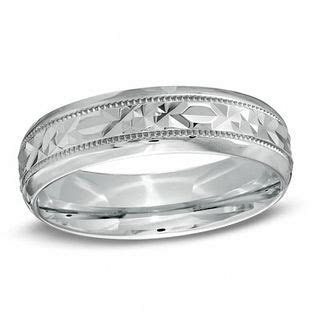 Men's 6.0mm Diamond Cut Comfort Fit Wedding Band in