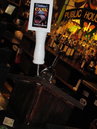 DIY beer engine: front view