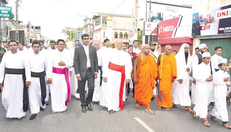 Protest march against drug abuse