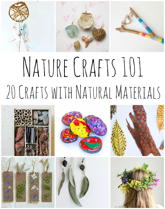 Nature Crafts 101 - 20 Stunning Crafts Using Items Found in Nature - Red Ted Art's Blog