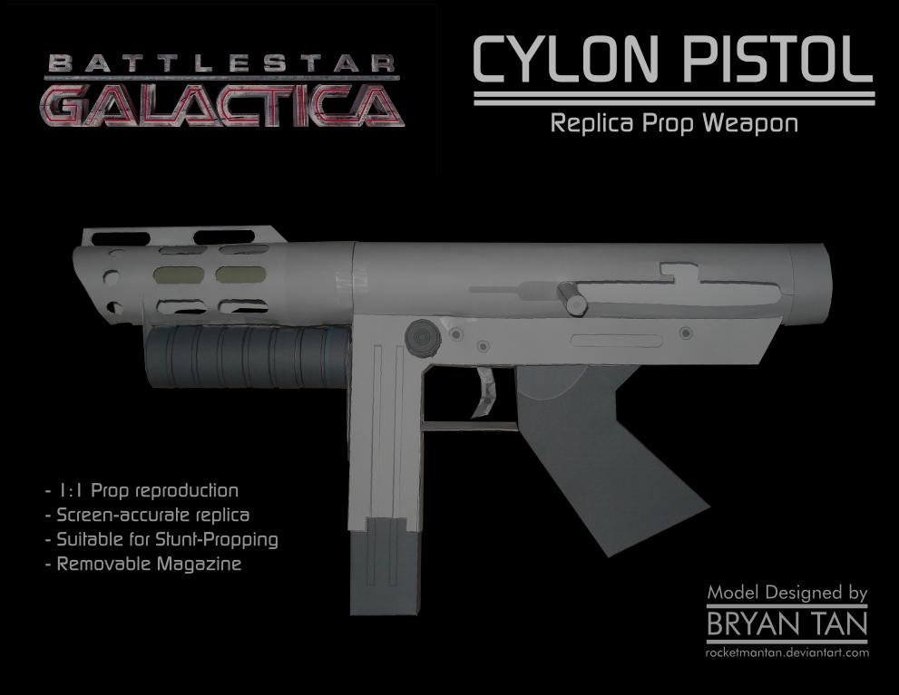 Cylon Pistol Papercraft