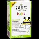 Zarbees - Baby Vitamin D - Safe & Effective - 400 IU (0.47 Fluid Ounces) - Infant Vitamin D