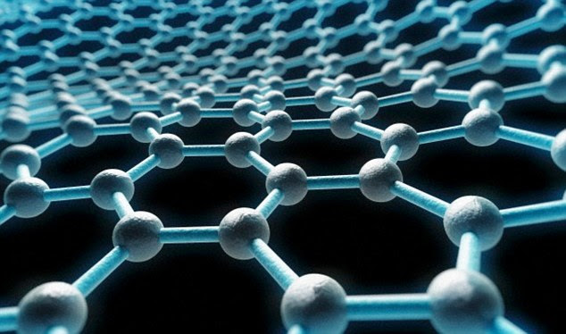 Graphene (artist's illustration shown) is the world's thinnest substance, transparent but stronger than steel - a conductive super-material made of carbon just one atom thick. There is a surge of interest in it to replace semiconductors in next-generation computers, touch screens, batteries and solar cells