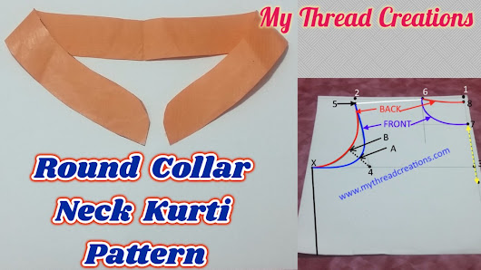 How To Make Round Collar Neck Kurti, Round Collar Pattern In A Simple Way