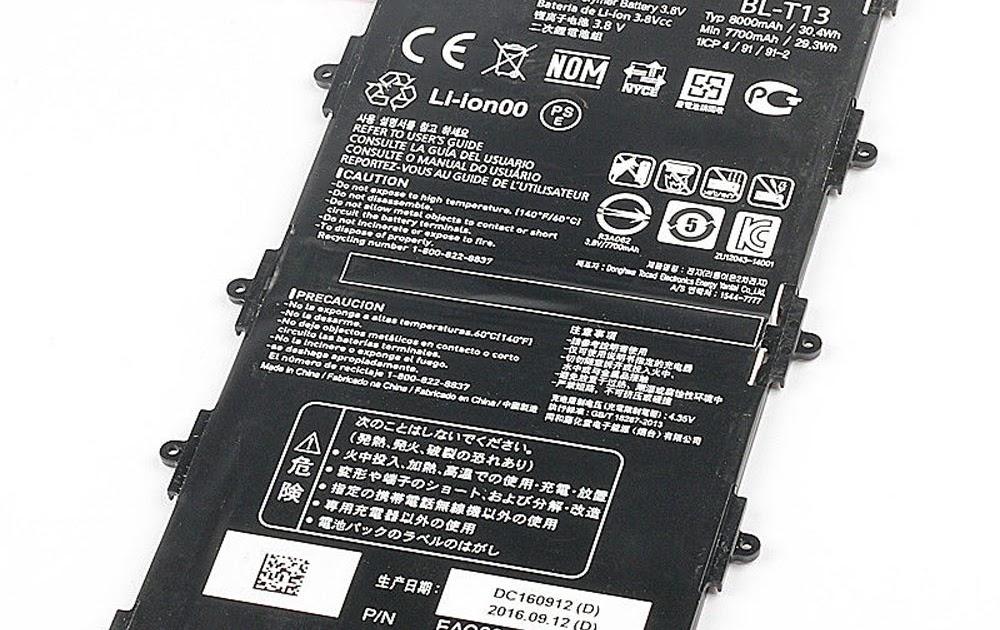 BuyAkkus: LG BL-T13 Akkus für LG G Pad VK700 Verizon Tablet