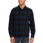 Orvis Men's Big Bear Heavy Weight Flannel, Blue, 3X-Large