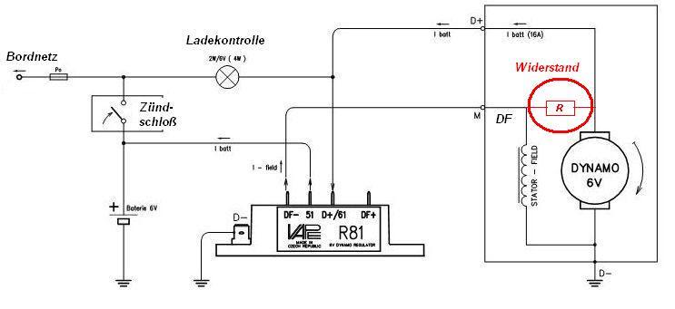 Lichtmaschinenregler Schaltplan