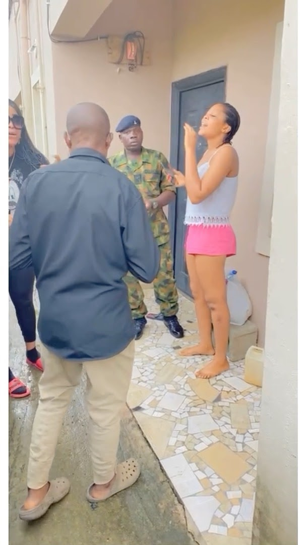 Lagos slay queen busted for conniving with her boyfriend to send fake alert (Video)