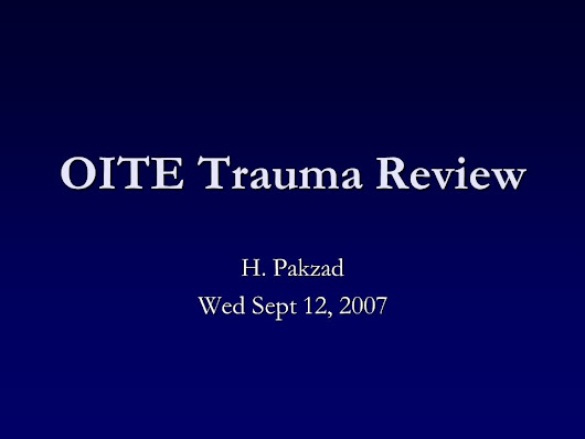 OITE Trauma Review H. Pakzad Wed Sept 12, Which of the following arteries provides the single dominant proximal blood supply to the medial head. -  ppt download