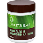 Desert Essence Natural Tea Tree Oil Facial Cleansing Pads - 50 count