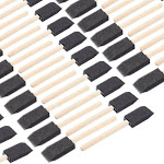 """120-Piece Foam Paint Brush 1"""" Paint Brushes with Wood Handles Value Pack - Great for Acrylics, Stains, Varnishes, Crafts, Art"""