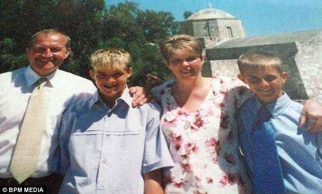 Danny, pictured here with his family, died of a heroin overdose in January 2016