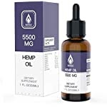 HempTotally Hemp Oil 5500mg for Pain, Stress and Anxiety Relief, All Natural Extract Helps with Mood and Sleep – Made in USA – 1 Fl Oz (30ml)