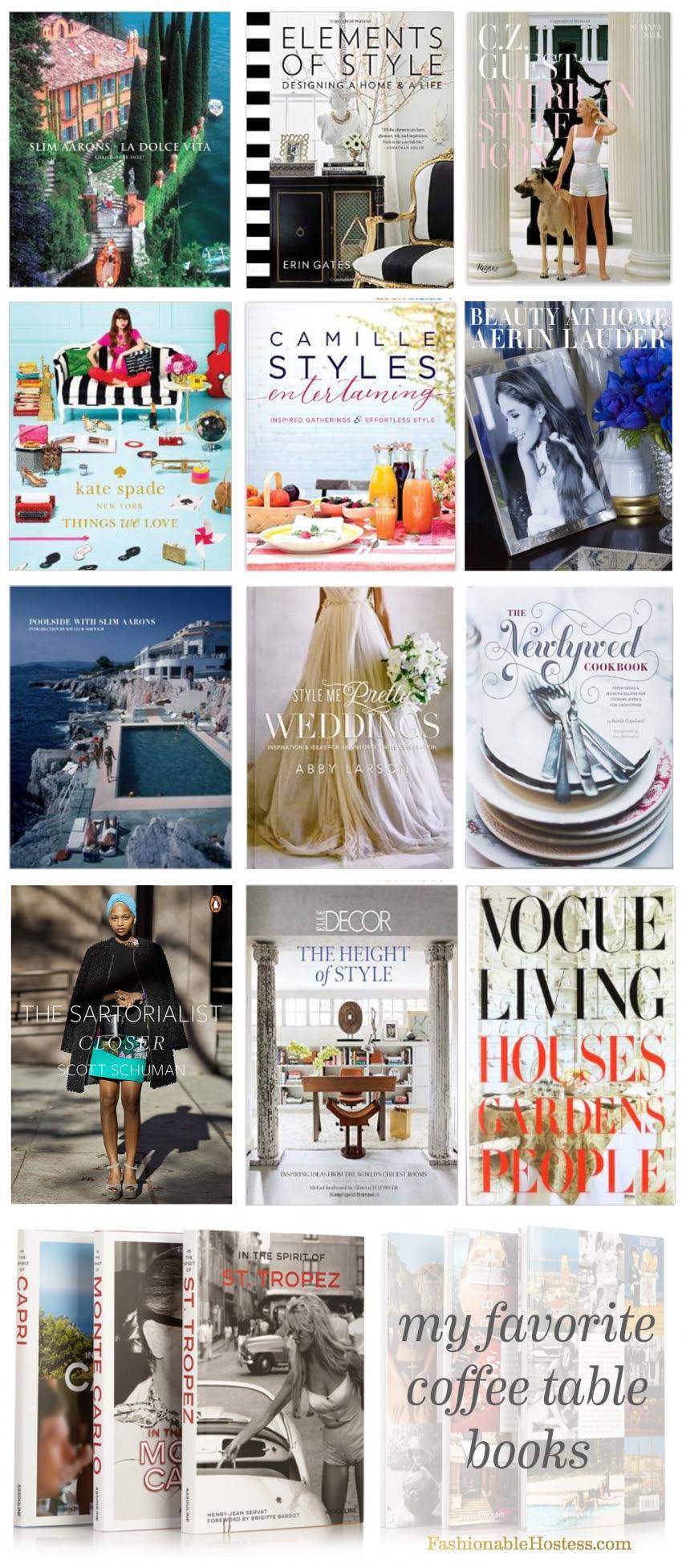 The Most Fashionable Coffee Table Books - Fashionable Hostess