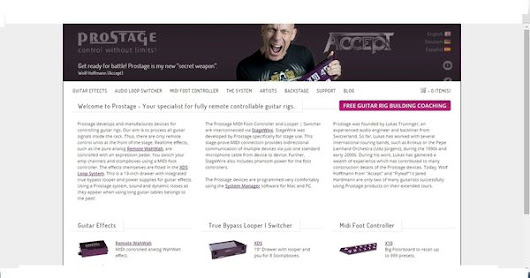 Prostage develops and manufactures devices for controlling guitar rigs. We had developed this website with advanced responsive designing on opencar… | Pinterest