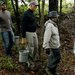 Furloughed employees of the Environmental Protection Agency headed into a wooded area to do volunteer trail maintenance in Hillsborough, N.C., on Thursday.