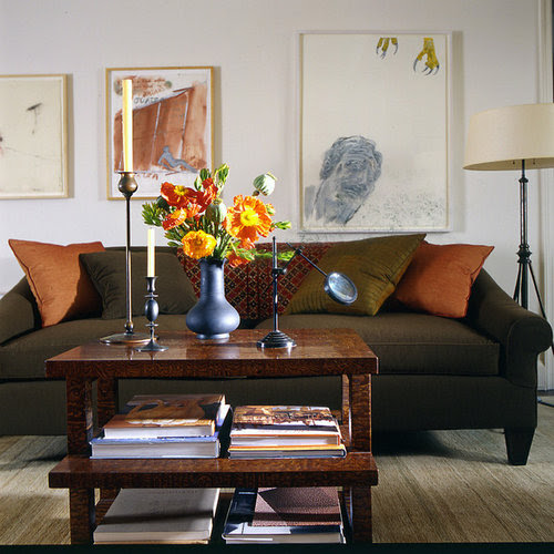 Olive Green Sofa Home Design Ideas, Pictures, Remodel and ...