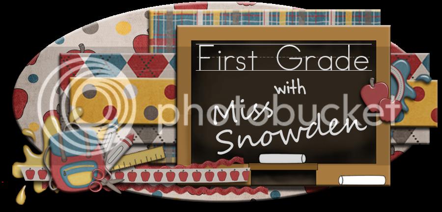 1st Grade with Miss Snowden