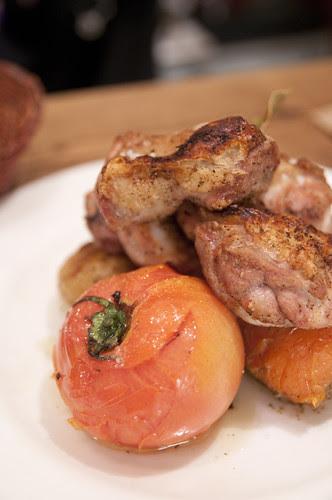 地鶏とトマト, 根菜のロースト, アヒルストア, 富ヶ谷