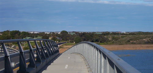 Hindmarsh Island viewed from bridge