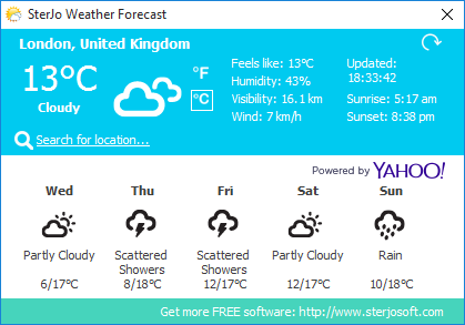 SterJo Weather Forecast